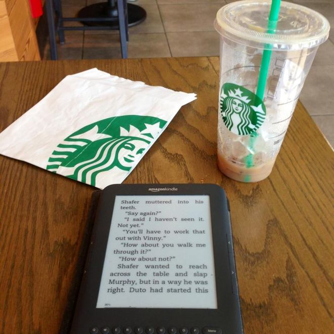 starbucks and book